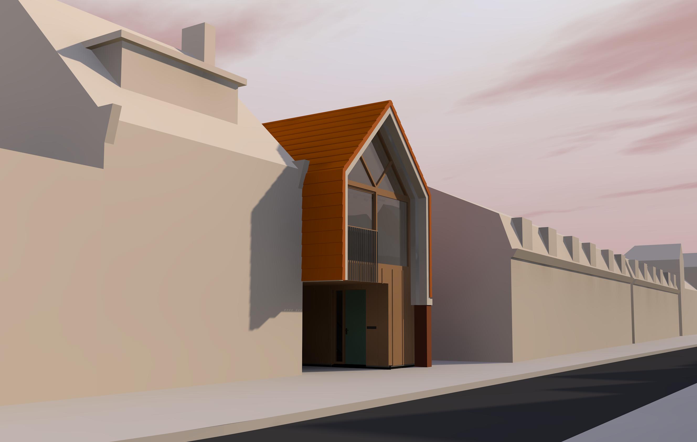 Tiny House ingepast in een stedelijke setting